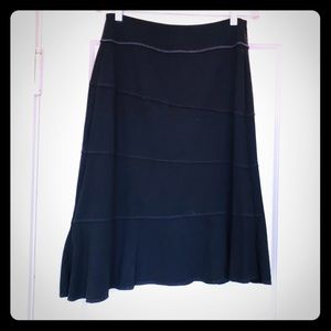 Athleta black asymmetrical skirt